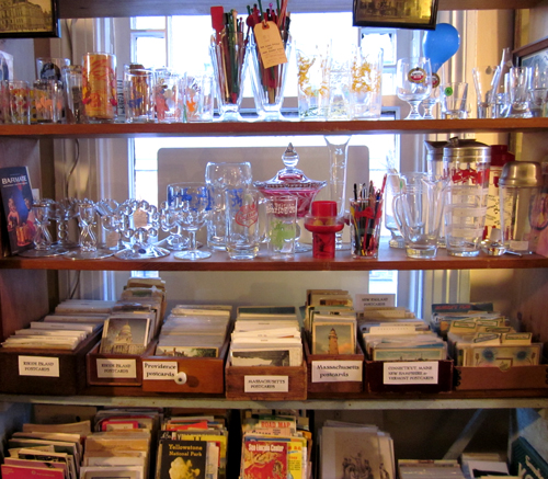 Barware Glassware Local Postcards + Ephemera of Many Cities Countries at What Cheer Records + Vintage + Antiques in Providence