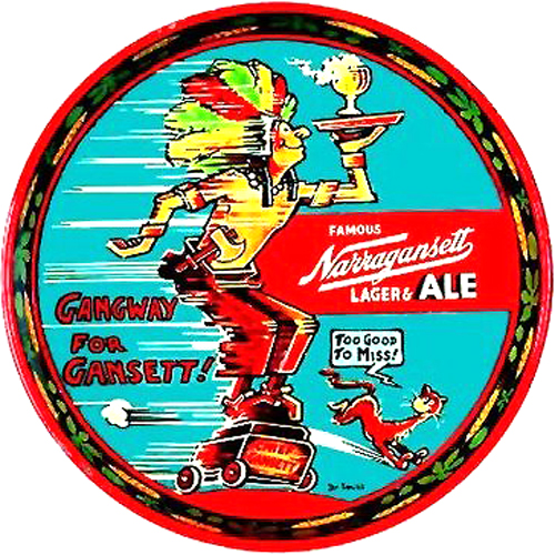 What Cheer loves Narragansett Beer - Support Your Local Brewery!
