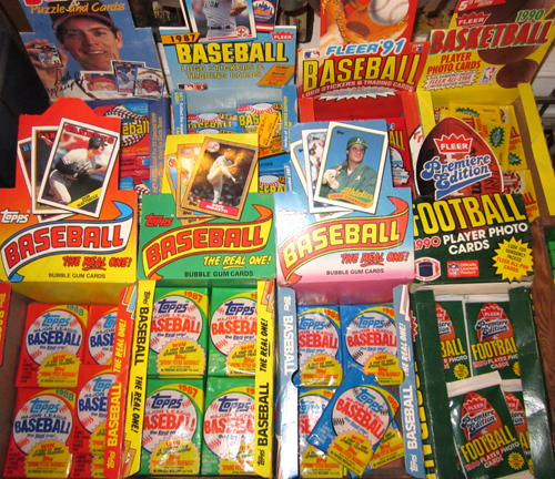 get Unopened Packs of Vintage Baseball Sports Cards at What Cheer Records + Vintage in Providence