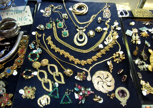 get your Bling on Costume Jewelry at What Cheer Records + Vintage + Antiques in Providence