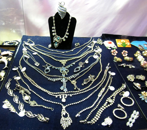 Vintage Rhinestone Costume Jewelry Rhinestones at What Cheer Records + Vintage + Antiques in Providence