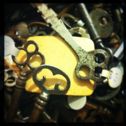 Antique Skeleton Keys at What Cheer in Providence (Photo by Kim O'Brien)