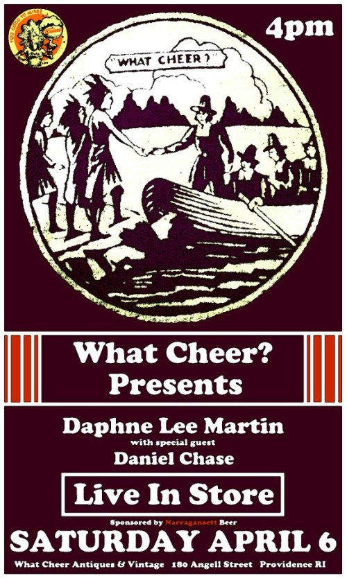 Saturday 9th April 2013 Daphne Lee Martin + Daniel Chase In-Store Performance