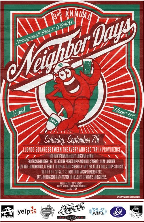 2013 Neighbor Days Providence Rock + Roll Yard Sale Poster