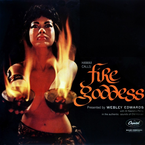 Webley Edwards 'Fire Goddess' LP Cover
