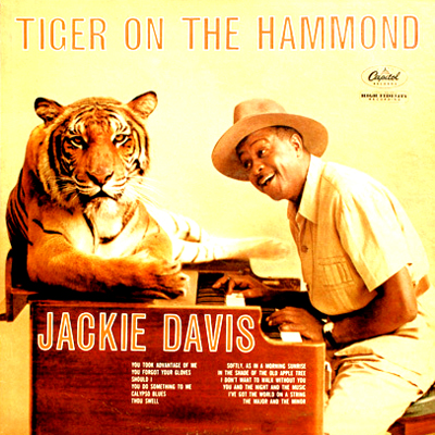 Jackie Davis 'Tiger On The Hammond' LP Album Cover