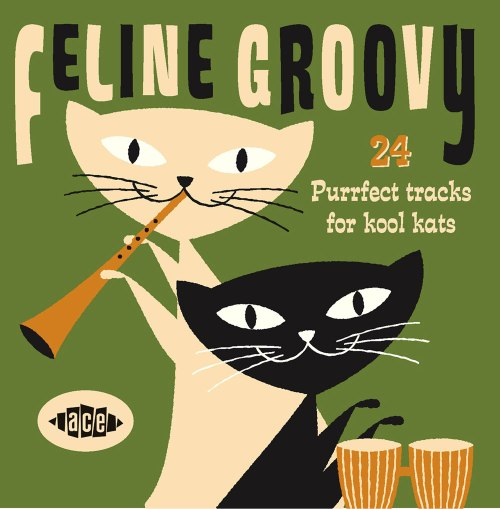 Feline Groovy Album Cover with Cat on Cover