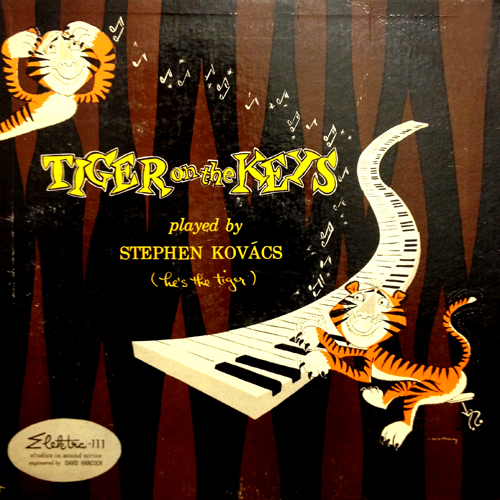 Steven Kovacs Tiger On The Keys Cat Album Cover