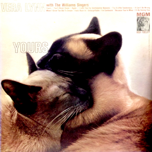 Vera Lynn Yours Siamese Cat Album Cover