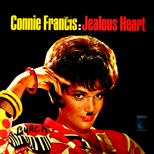 poor Connie Francis gets a moustache