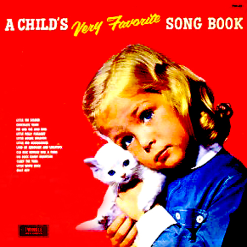 A Child's Very Favorit Song Book LP With Cat Cover