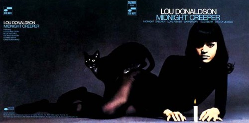 Lou Donaldson Midnight Creeper Album Cover with Cat