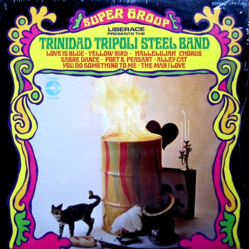 tripoli steel band trinidad album cover with cat