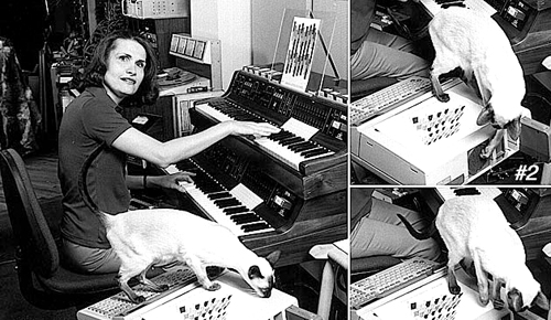 Wendy Carlos With Cats