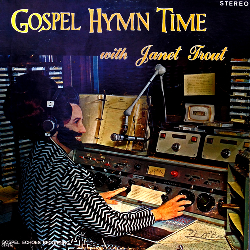 a sharpie makes for mischief on Gospel Time with Janet Trout LP Cover