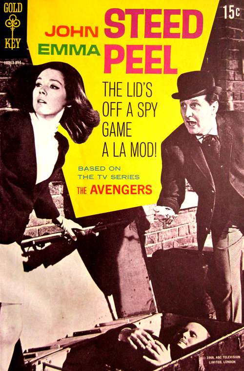 John Steed and Emma Peel the Avengers Vintage Comic Book at What Cheer in Providence