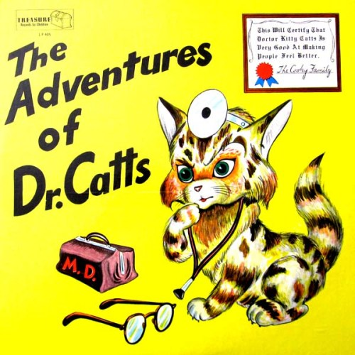 the Adventures of Dr. Catts LP Album Cover with Cat
