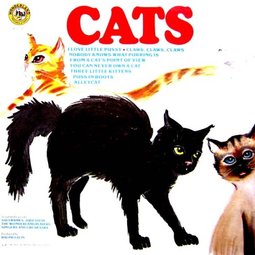 Wonderland Childrens Cats LP Album Cover
