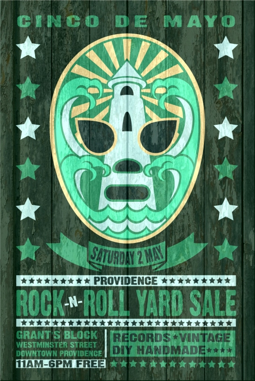 2015 CINCO DE MAYO RRYS PROVIDENCE ROCK AND ROLL YARD SALE POSTER 5.2.15