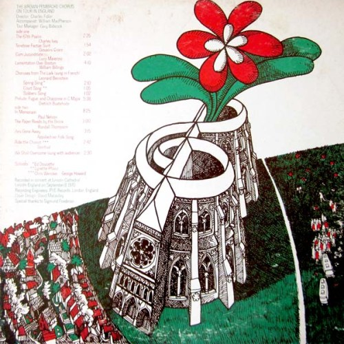 the Brown-Pembroke Chorus on Tour in Englan LP Record with David MaCaulay Cover Artwork