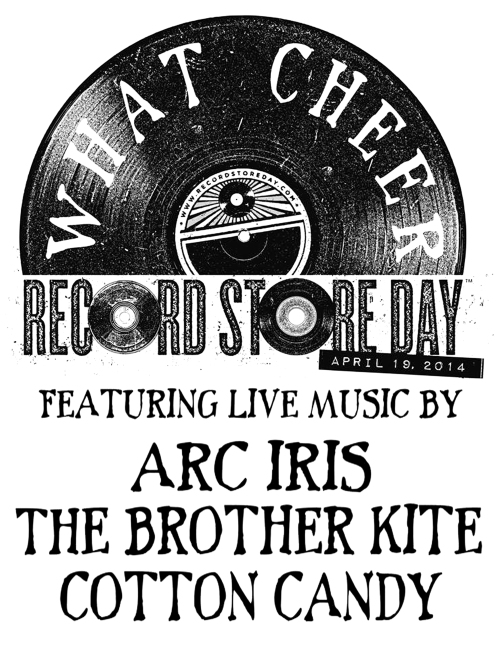 What Cheer RSD Show Poster Saturday April 19th 2014