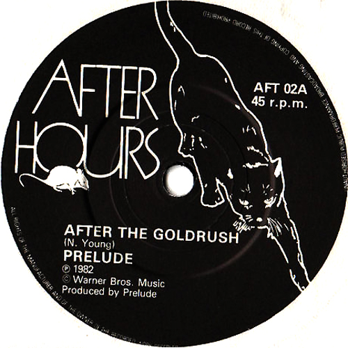 after the goldrush prelude label with cat artwork