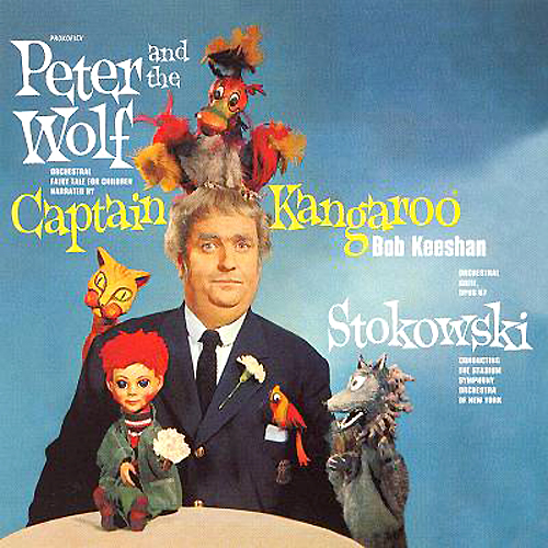 Captain Kangaroo Peter And The Wolf LP Cover with Cat