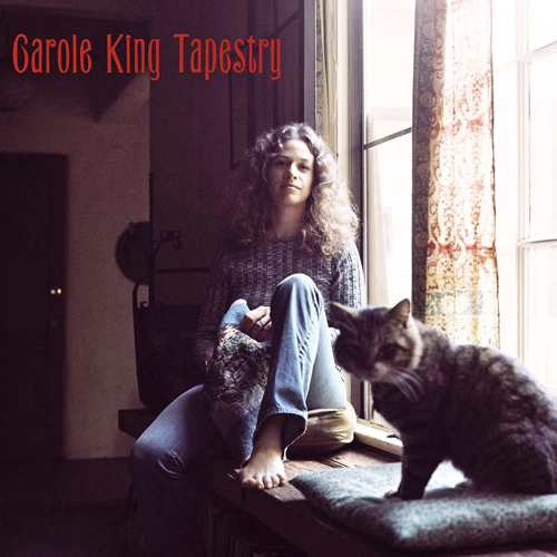 Carole King Tapestry Album Cover with Cat on It