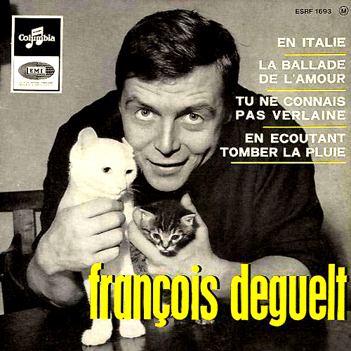 Francois Deguelt LP Album Cover with Cat Photo