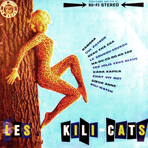 Les Kili-Cats Cat LP Record Album Cover with Cats Artwork