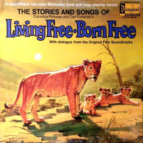 Living Free Born Free Record LP Album Cover with Cats on It