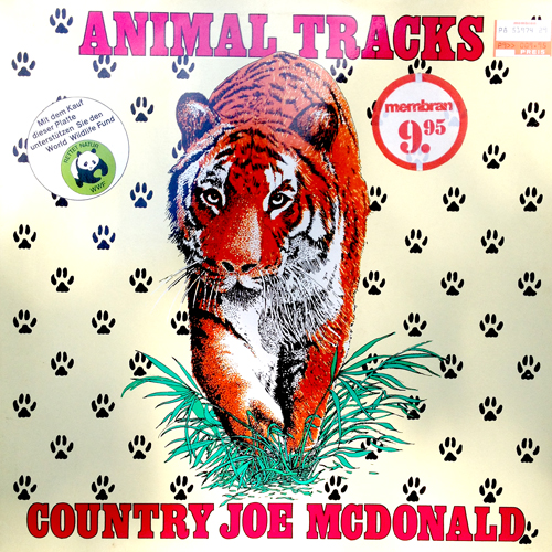 Country Joe McDonald Animal Tracks LP Cover Art with Tiger Cat