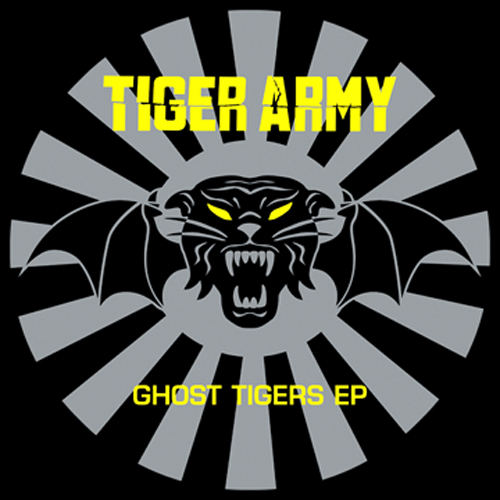 Tiger Army Ghost Tigers EP Record Album Cover with Cat