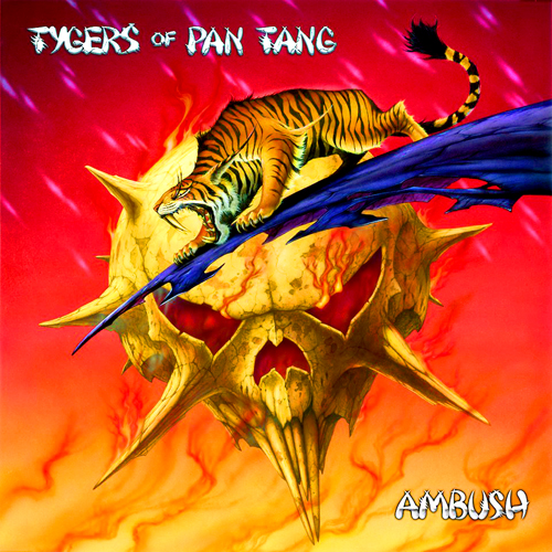 tygers of pan tang ambush LP record album cover with cat Tiger artwork