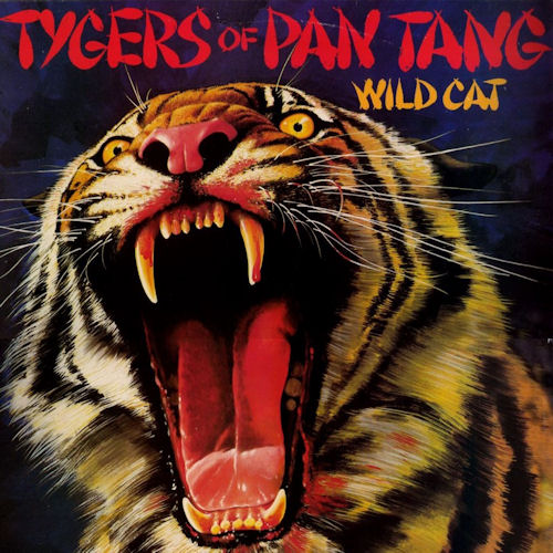 Tygers Of Pan Tang Wild Cat LP Record Album Cover With Tiger Cat Artwork