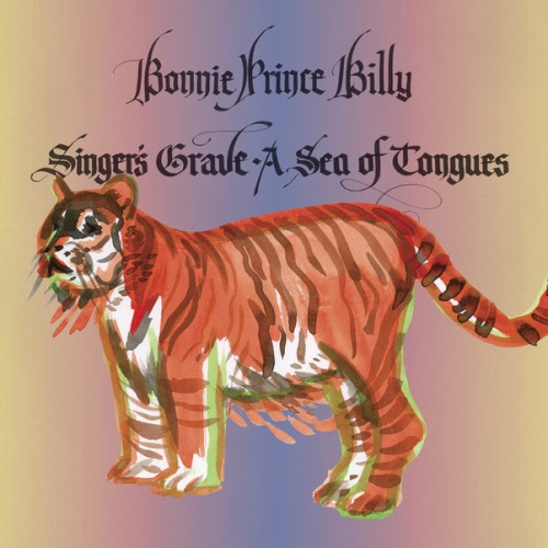 bonnie prince billy singer's grave a sea of tongues lp record album cover with tiger cat artwork