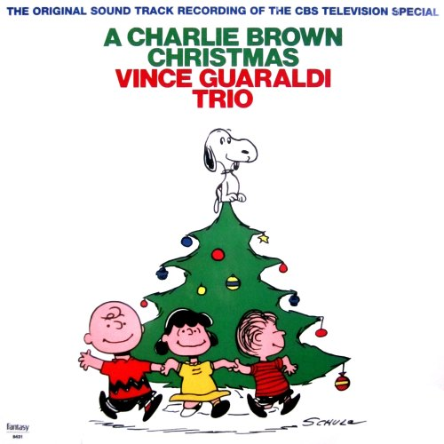 get vince guaraldi trio a charlie brown christmas on vinyl lp record album from what cheer in providence (front cover photo)