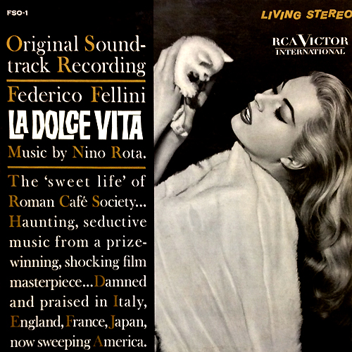 La Dolce Vita LP Cover With Cat Record Artwork