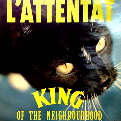 L'Atentat LP Cover With Cat Record Artwork