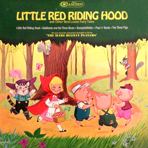 little red riding hood LP Record Album Cover with cat artworki