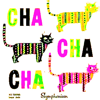 Cha Cha Cha Symphonium LP Record Album Cover with Cats Cat