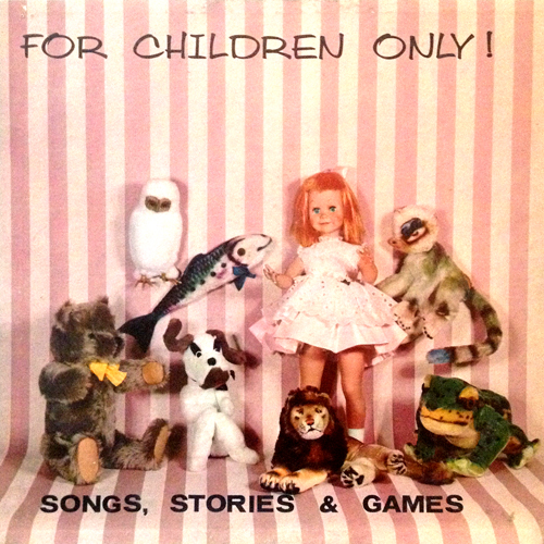 for children only lp record album cover with stuffed cat animal artwork