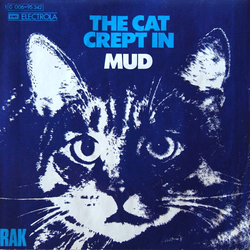 the cat crept in mud 45rpm picture sleeve record cover with cat artwork