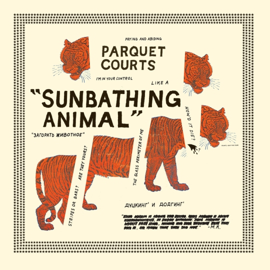 the-parquet-courts-sunbathing-animal-lp-album-cover-with-cat-tiger-artwork