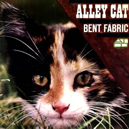 bent fabric alley cat vinyl lp cover with cat artwork photo