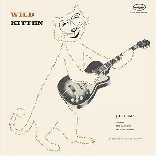 joe puma wild kitten lp album cover art with cat
