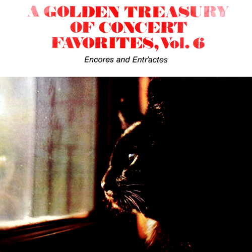 Golden Treasury Of Concert Favorites, Vol. 6 Vinyl LP Record Album Cover with Cat Artwork