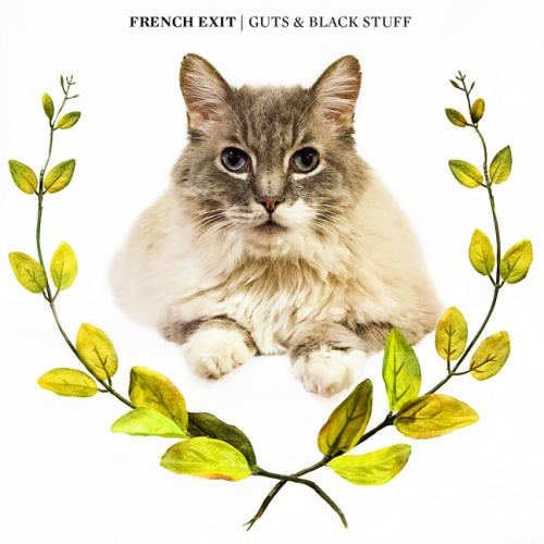 french exit guts and black stuff record album LP cover with cat artwork