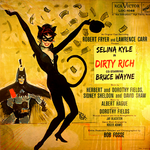 redhead original soundtrack lp album with doctored altered cat catwoman batman cover artwork cat