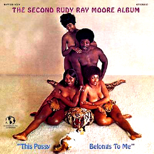 the second rudy ray moore album this pussy belongs to me lp record with cat tiger cover artwork
